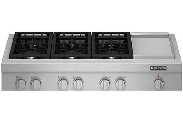 "Jenn-Air Stainless Steel 48"" Pro-Style Gas Cooktop With Griddle - JGCP548WP"