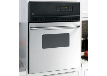 "GE 24"" Single Stainless Steel Electric Wall Oven - JRP20SKSS"