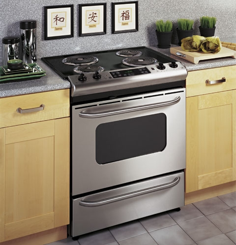 Ge 30 Quot Stainless Steel Slide In Electric Range Jsp39snss
