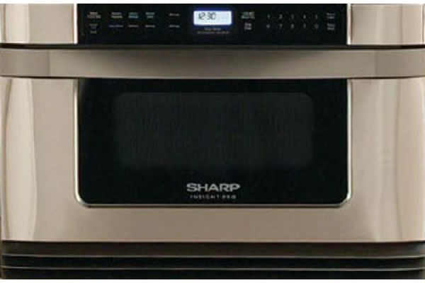 "Large image of Sharp Stainless Steel Insight Pro 24"" Microwave Drawer - KB6024MS"