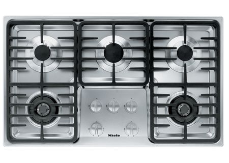 Miele Stainless 5 Burner Natural Gas Cooktop - KM3475G