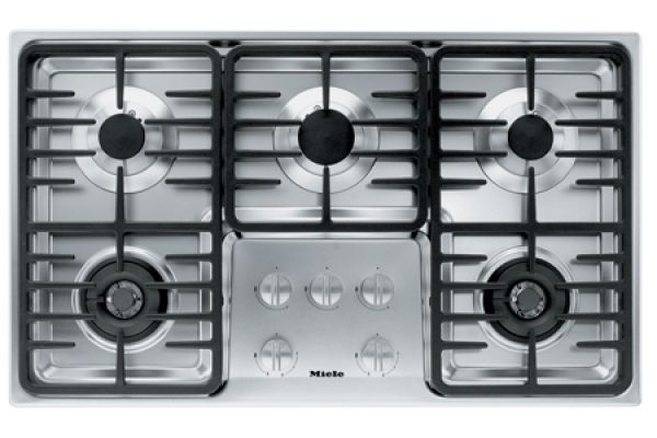 Large image of Miele Stainless 5 Burner Natural Gas Cooktop - 06792770