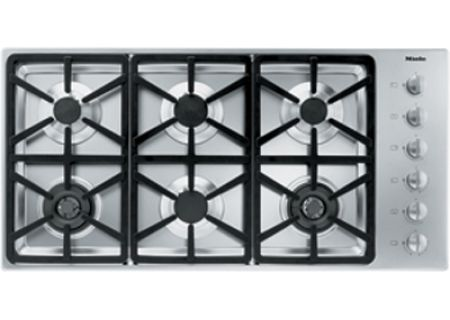 """Miele 42"""" Gas Cooktop - Stainless Steel Finish - KM3484G"""