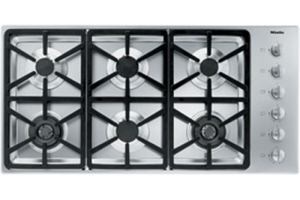 """Large image of Miele 42"""" Gas Cooktop - Stainless Steel Finish - 06792840"""