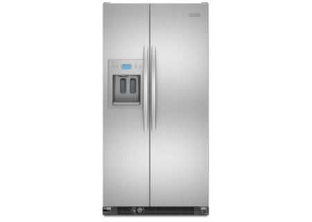 Kitchenaid architect series ii monochromatic stainless steel counter depth side by side refrigerator - Kitchenaid architect counter depth refrigerator ...
