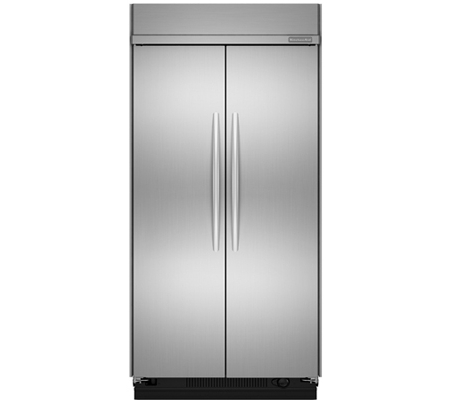 kitchenaid side by side stainless refrigerator kssc42fts