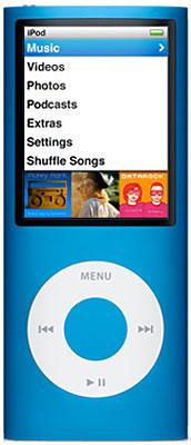 Apple 8gb Blue 4th Generation Ipod Nano Mb732ll A Abt