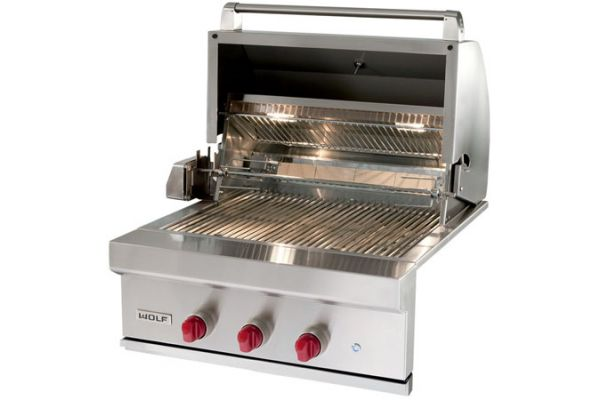 Wolf Stainless Steel Outdoor Built In Natural Gas Grill - OG30