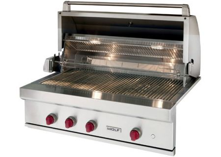 Wolf Stainless Steel Outdoor Built In Natural Gas Grill Og42