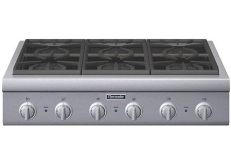 Thermador Professional Series 36 Gas Rangetop In Stainless Steel Pcg366g