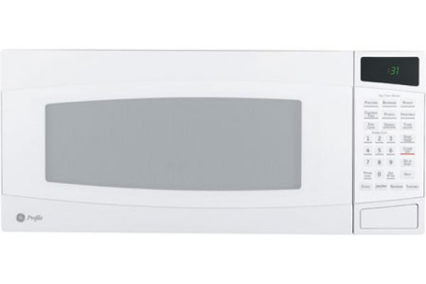 Large image of GE Profile Spacemaker II White Microwave Oven - PEM31DFWW