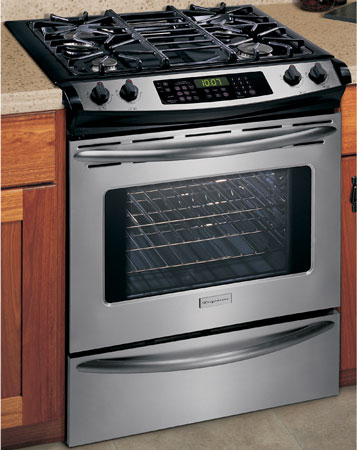 Frigidaire 30 Quot Slide In Gas Range Black Stainless Steel