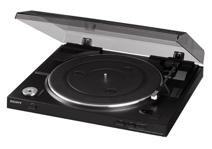 Sony Black USB Stereo Turntable System PS-LX300USB
