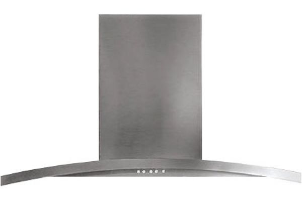 """Large image of GE Profile 36"""" Stainless Steel Designer Wall Hood - PV976NS"""