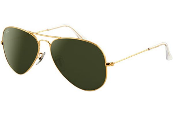 Large image of Ray-Ban Gold Frame Aviator Unisex Sunglasses - RB3025 L0205 58-14