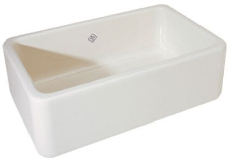 Rohl Shaws Fireclay Apron Kitchen Sink - RC3018WH