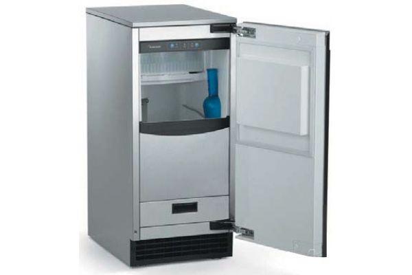 """Scotsman 15"""" Black Cabinet Under-Counter Gourmet Ice Machine - SCCG50M-1BU"""