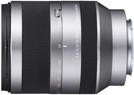 Sony Silver 18-200MM F 3.5-6.3 Zoom Camera Lens - SEL18200