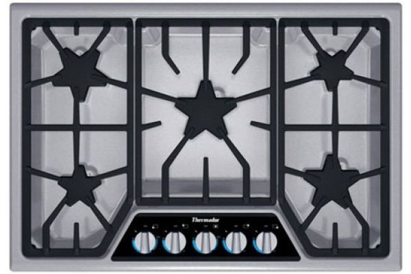 "Thermador Stainless Steel 30"" Masterpiece Deluxe Gas Cooktop - SGSX305FS"