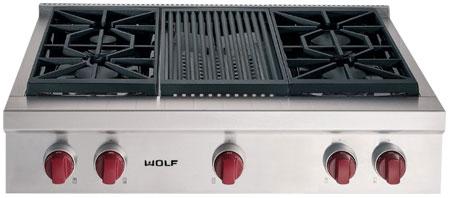 Wolf 36 Quot Stainless Steel Gas Rangetop Srt364c Abt