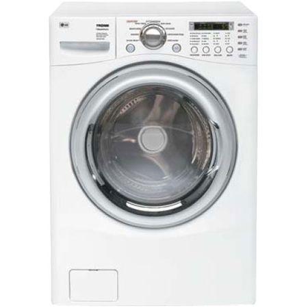 Lg Tromm 4 2 Cu Ft White Front Control Allergiene Steamwasher Wm2487hwm
