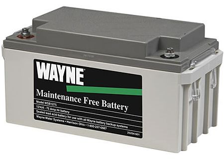 Wayne Maintenance Free 75 Amp Battery - WSB1275