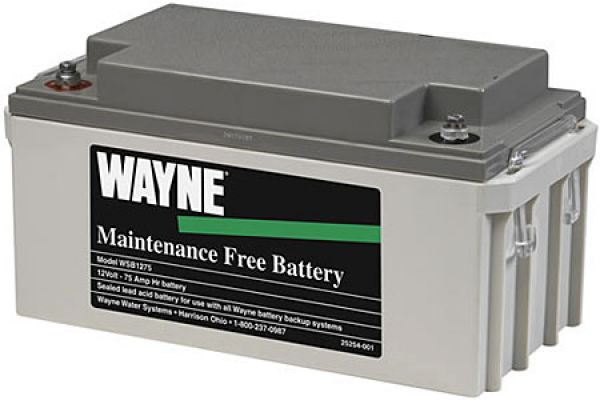 Wayne Maintenance Free 75 Amp Battery - WSB1275