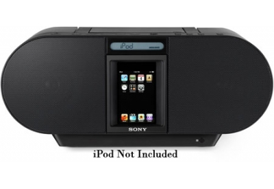 Sony - ZS-S4IPBLACK - Boomboxes & CD Players