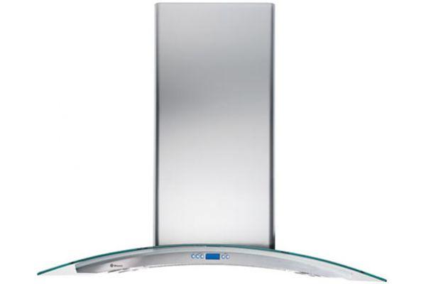 "Monogram 36"" Glass Canopy Island Hood - Stainless Steel Finish - ZV925SLSS"
