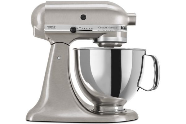 Large image of KitchenAid Custom Metallic Stand Mixer  In Brushed Nickel - KSM152PSNK