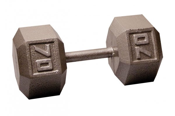 Large image of Body-Solid 70 lb Hex Dumbbell (Each) - SDX70