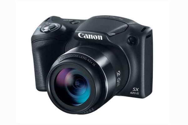 Large image of Canon PowerShot SX420 IS Black Digital Camera - 1068C001