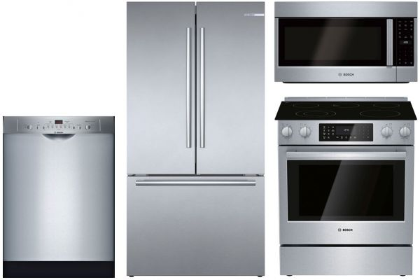 Large image of Bosch Stainless Steel Appliance Package with Electric Range - BOSCPACK8