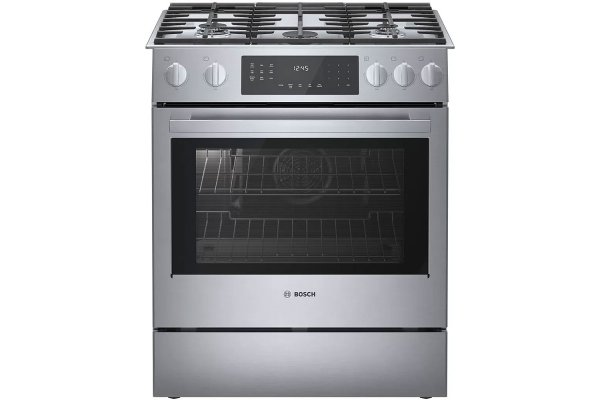 """Large image of Bosch Benchmark Series 30"""" Stainless Steel Gas Slide-In Range - HGIP056UC"""