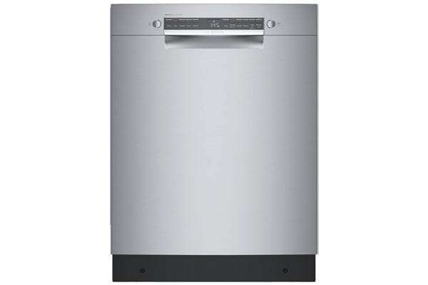 """Large image of Bosch 300 Series ADA 24"""" Stainless Steel Recessed Handle Dishwasher - SGE53B55UC"""