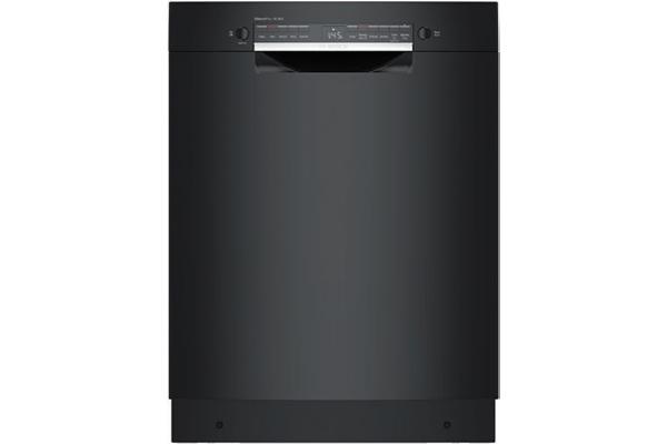 "Large image of Bosch 300 Series ADA 24"" Black Recessed Handle Dishwasher - SGE53B56UC"