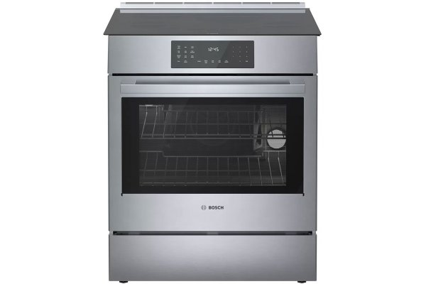 """Large image of Bosch 30"""" 800 Series Stainless Steel Induction Slide-In Range - HII8056U"""