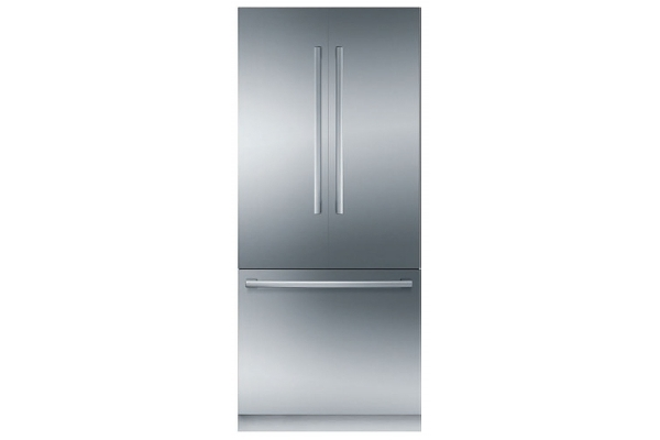 """Large image of Bosch Benchmark Series 36"""" Stainless Steel Built-In French Door Refrigerator - B36BT935NS"""