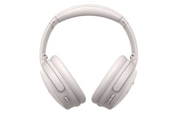 Large image of Bose White Smoke QuietComfort 45 Wireless Noise Cancelling Headphones - 866724-0200