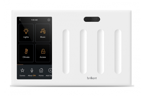 Large image of Brilliant Smart Home Control (4-Switch) - BHA120US-WH4