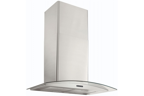 "Large image of Broan Elite 30"" Stainless Steel Curved Glass Chimney Range Hood - EW4630SS"