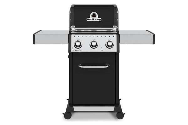 Large image of Broil King Baron 320 Pro Black Natural Gas Grill - 874217
