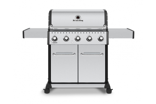 Large image of Broil King Baron S520 Pro Stainless Steel Natural Gas Grill - 876317