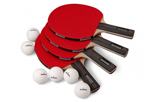 Large image of Brunswick 4 Player Table Tennis Set - 51870849001