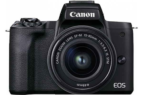 Large image of Canon EOS M50 Mark II Camera With EF-M 15-45mm f/3.5-6.3 & 55-200mm f/4.5-6.3 IS STM Kit - 4728C014