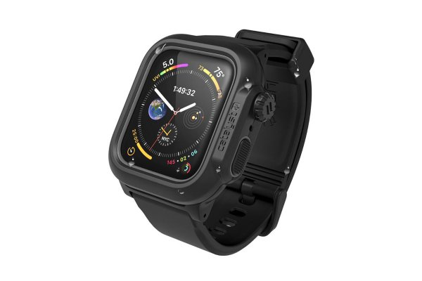 Large image of Catalyst Stealth Black Waterproof Case For 44mm Apple Watch Series 4/5/6 & SE - CAT44WAT4BLK