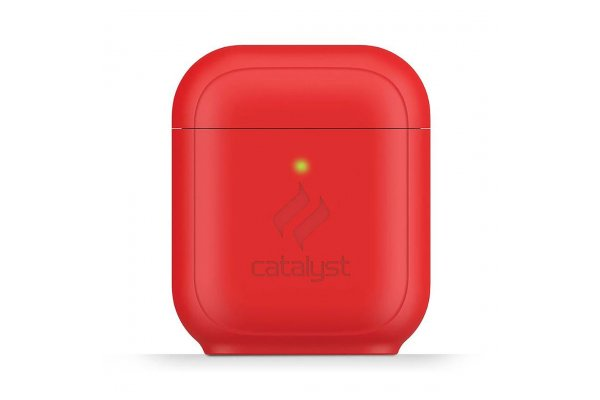 Large image of Catalyst Flame Red Standing Case For AirPods - CATAPDSTDRED