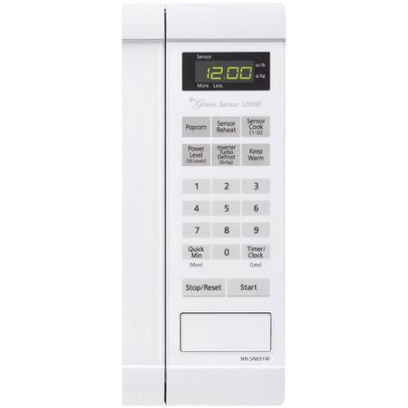 Panasonic White 1 2 Cu Ft Microwave Oven Nn Sn651w