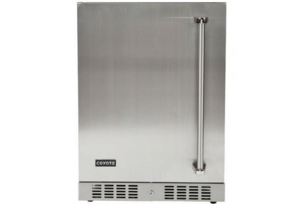 "Large image of Coyote 24"" Stainless Steel Left Hinge Outdoor Refrigerator - C1BIR24-L"