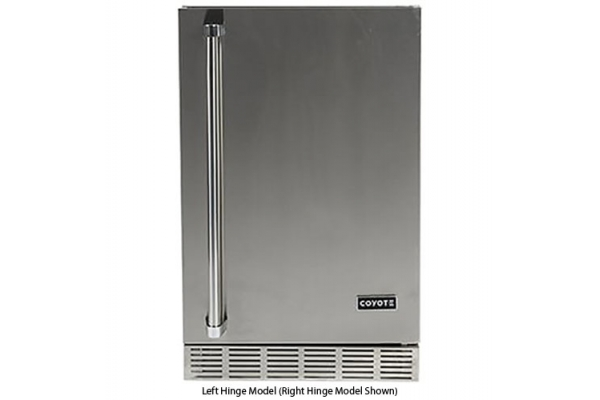 "Large image of Coyote 21"" Stainless Steel Outdoor Refrigerator - CBIRL"